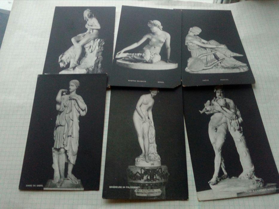 Stare pocztówki IN Paris rzeźby 11 sztuk Łódź - image 1