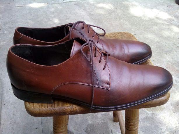 Туфли коричневые, кожаные. 44 размер.