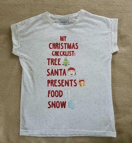 Świąteczna koszulka dla dziewczynki r. 152