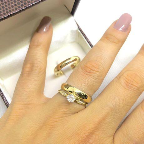 KLASYKA! Elegancka Para Złotych Obrączek Ślubnych