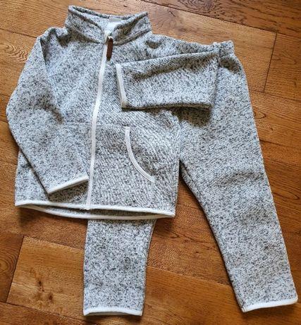 Komplet Polar bluza polarowa na zamek spodnie polarowe - rozm. 92