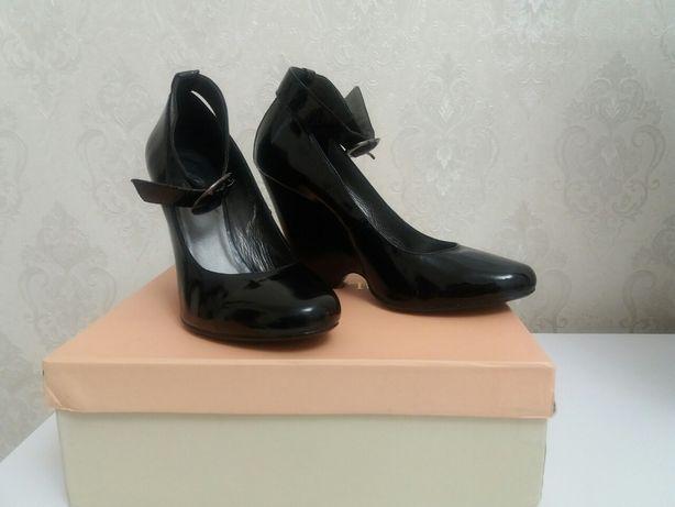 Туфли кожаные /лак
