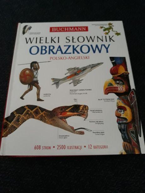 Wielki słownik obrazkowy polsko- angielski.