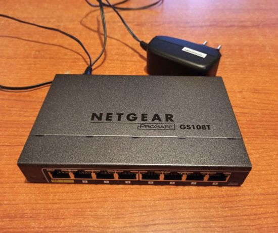 Switch netgear GS108T 8 portów 1Gbps, switch zarządzalny