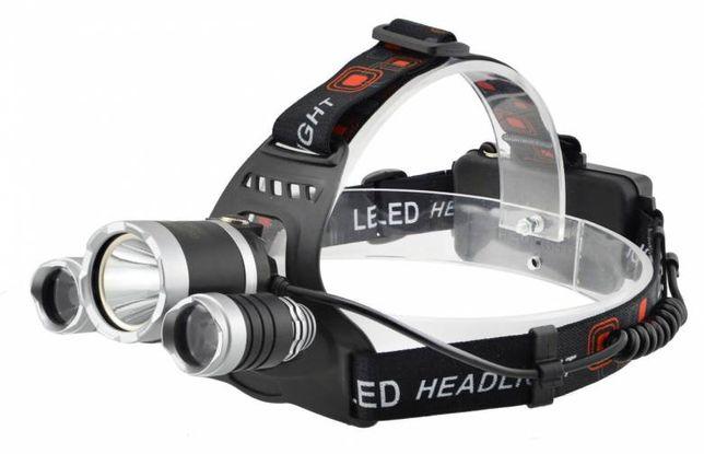 Налобный аккумуляторный фонарь Police RJ 3000 T6 3 Led
