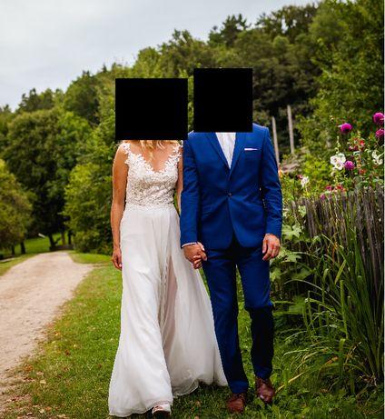Suknia ślubna, rozmiar 36, ivory