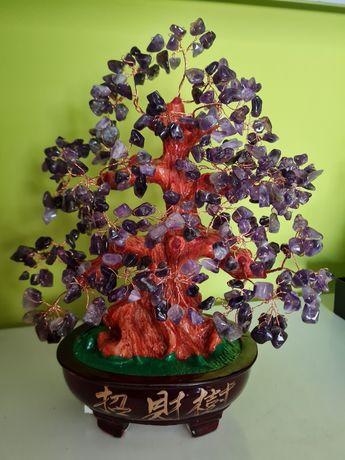 Bonsai da Proteção,  Espiritualidade e Cura, cristais Ametista