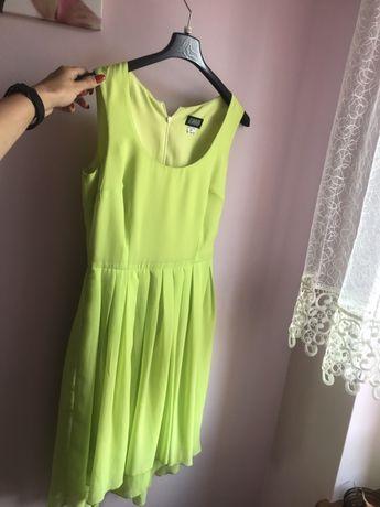Sukienka zielony neon EMO rozmiar 34