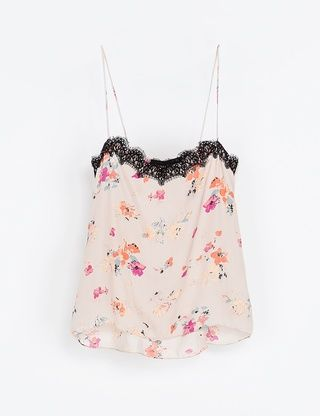 Top Zara estilo lingerie