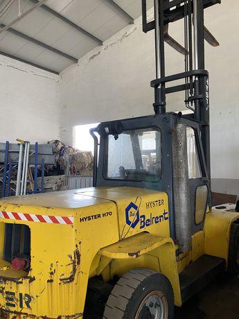 Empilhador hYSTER diesel 7000 kgrs cabinado pneus macicos
