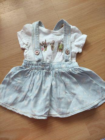 Sukienka dla dziewczynki w wieku 3-6m