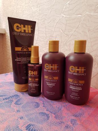 CHI Deep Brilliance Olive & Monoi (Шампунь 355 мл +Кондиционер 355 мл)