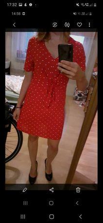 Czerwoan nowa sukienka w groszki Top Secret
