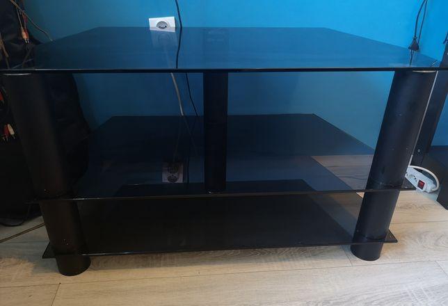 Czarny, szklany stolik RTV