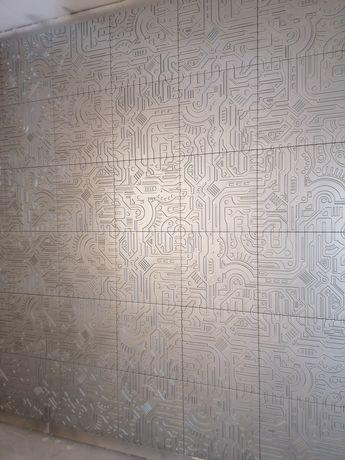 Декор 3D панели декоративная штукатурка гипсовый кирпичь