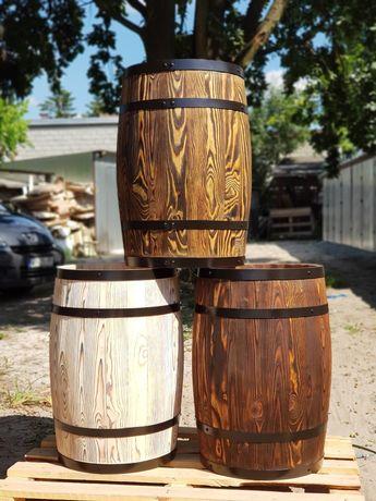 Beczka drewniana ozdobna, na deszczówkę, do kiszenia