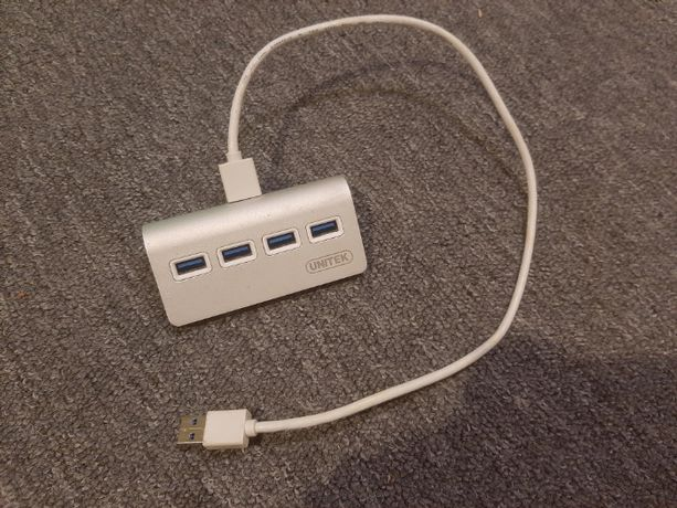 Hub USB Unitek Y-3186 4xUSB 3.0 aluminium rozdzielacz