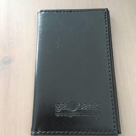 Skórzane etui portfel na kartę kredytową, dokumenty osobiste, wizytówk