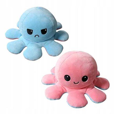 Восьминіг двосторонній(перевертиш) рожево-голубий. М'яка ірграшка