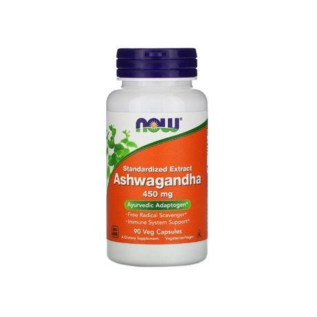 Ашваганда, 450 мг, 90 вегетарианских капсул, Now Foods, США