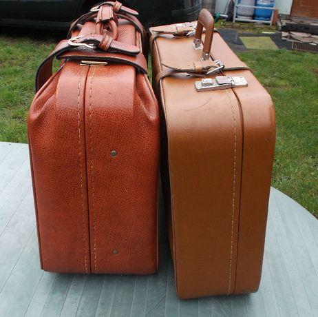 Stara Walizka/kufer PRL Vintage Antyk dwie sztuki