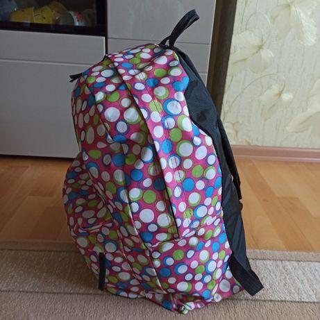JANSPORT рюкзак НОВЫЙ цвет розовый и кружочки разных цветов
