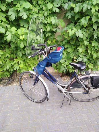 Fotelik rowerowy przedni + szyba