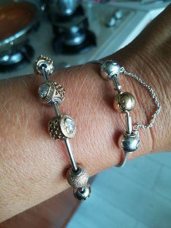 Pandora Essence bransoletka złoto 585 zapięcie plus łańcuszek