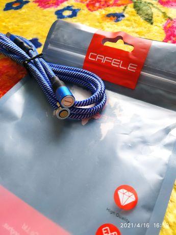 Магнітний кабель Cafele з розємом МІКРО micro USB 3Aмпера