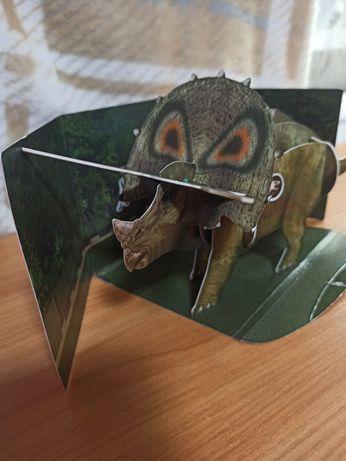 Конструктор картонный динозавров