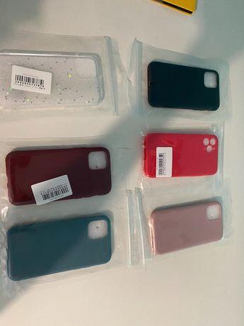 Capas silicone e vidro temperado para IPhone 11 Pro