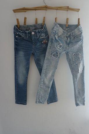 Spodnie jeansy jeansowe dzinsy zestaw 2szt. 116