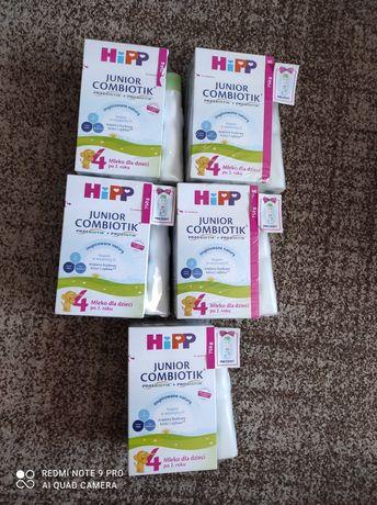 HiPP combiotic 4 junior 5 sztuk+ gratis