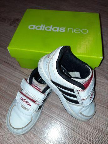 Buty ADIDAS NEO białe dla chłopca rozm. 23