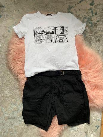 Zestaw ubrań (spodenki i dwie bluzki)