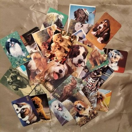 Коллекция календариков кошки-собаки.