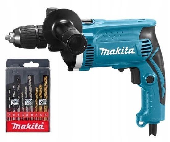 Makita HP1631K wiertarka udarowa 710W + wiertła