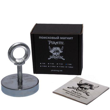 •F-200• Поисковый магнит ПИРАТ + ТРОС в подарок + Бесплатная доставка*