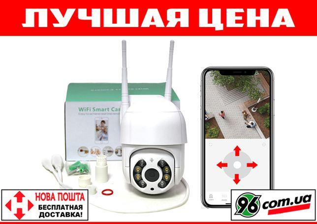 Уличная беспроводная поворотная WIFI IP камера видеонаблюдения 1080p