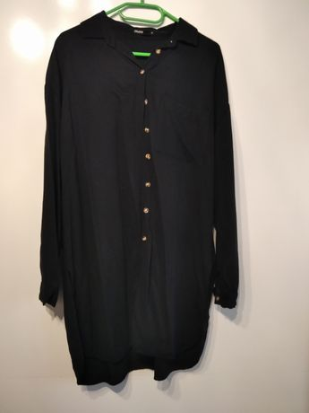Długa czarna koszula CROPP