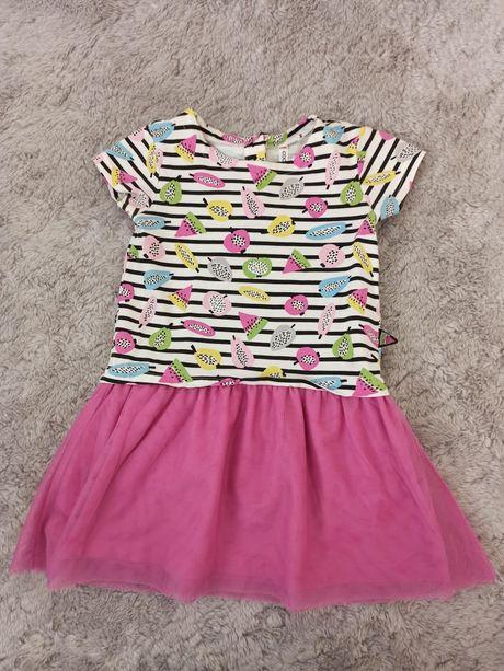 Sukienka lato wiosna coccodrillo rozmiar 104 krótki rękaw tiul