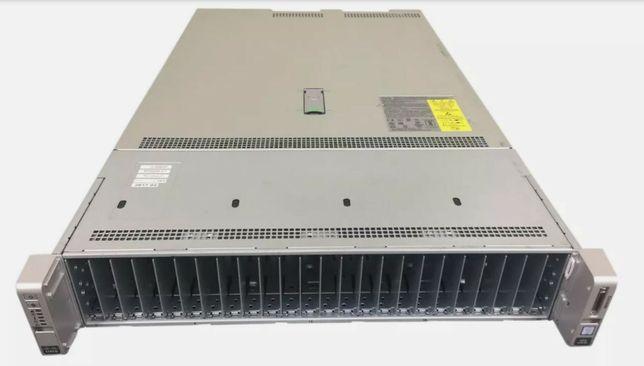 Сервер Cisco C240 M4 28/56 Ядер 2×E5-2680v4 96GB DDR4 24 SSD 12G Raid