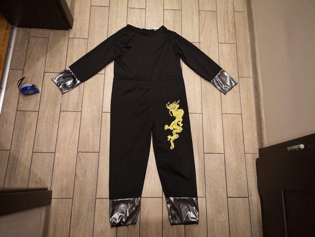 Strój ninja czarny, wojownik, smok, ninjago roz.120-130cm