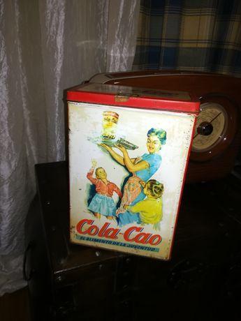 Lata de cola cao vintage