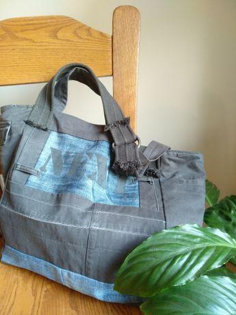Jeansowa torba na ramię