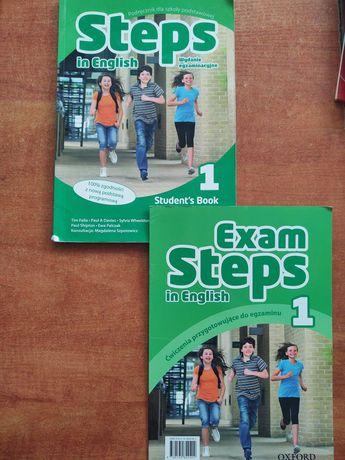 Podręcznik + ćwiczenia do języka angielskiego, STEPS in ENGLISH 1