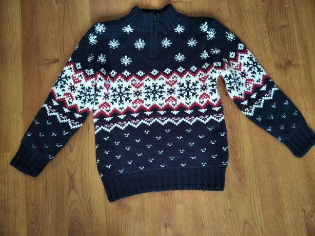 Очень теплый свитер George, двойная вязка р.110-116, 5-6 лет by