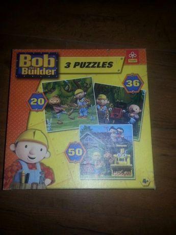 Bob budowniczy puzzle 3w1