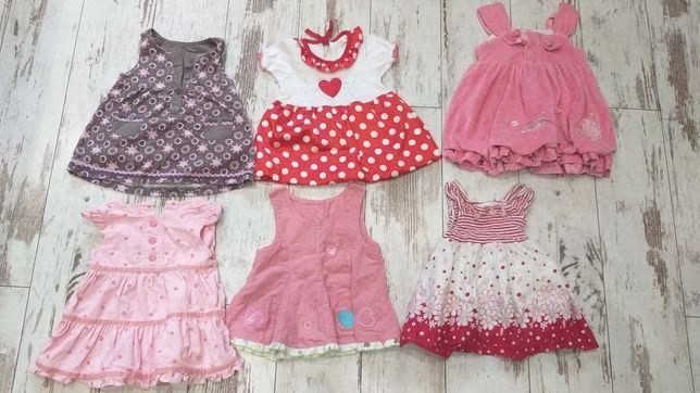 Zestaw sukienek na lato 3-6 miesięcy