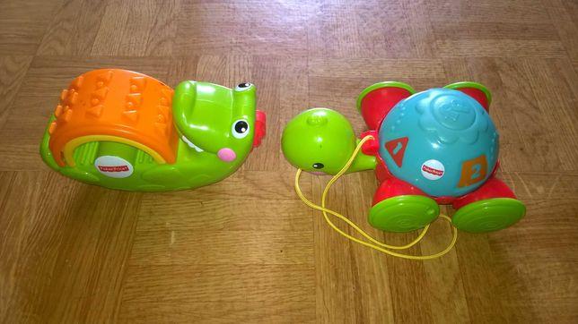 Zabawki Fisher Price krokodyl i żółwik